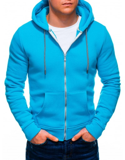Men's zip-up sweatshirt B1230 - turquoise