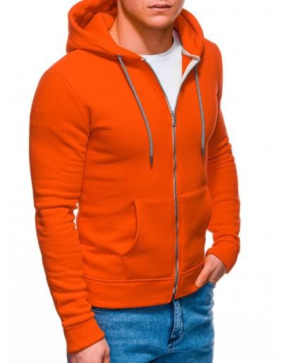 Pánská mikina na zip B1230 - oranžová