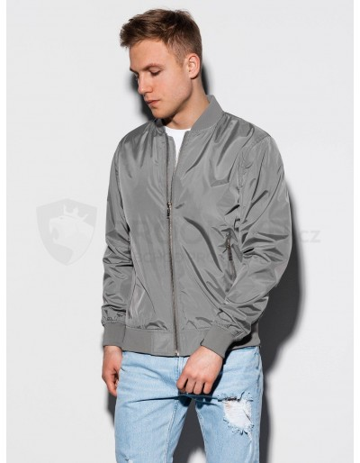 Men's autumn bomber jacket C439 - grey