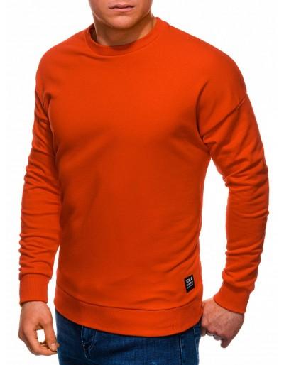 Pánská mikina B1229 - tmavě oranžová