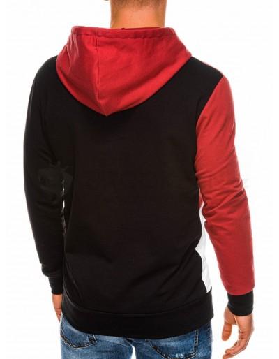 Men's hoodie B1050 - black/red