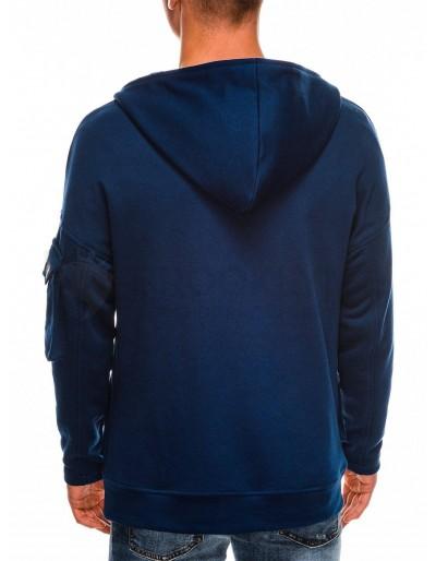 Men's zip-up sweatshirt B1049 - navy