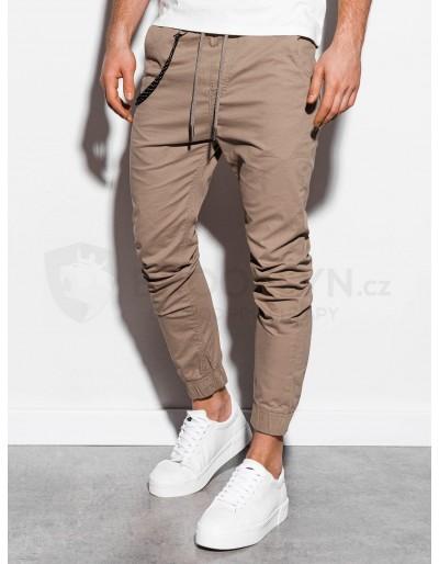 Men's pants joggers P908 - beige