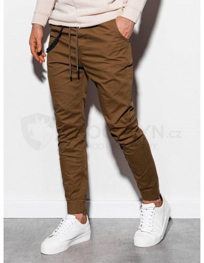 Men's pants joggers P908 - brown