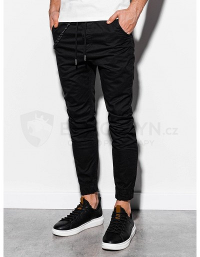 Men's pants joggers P908 - black