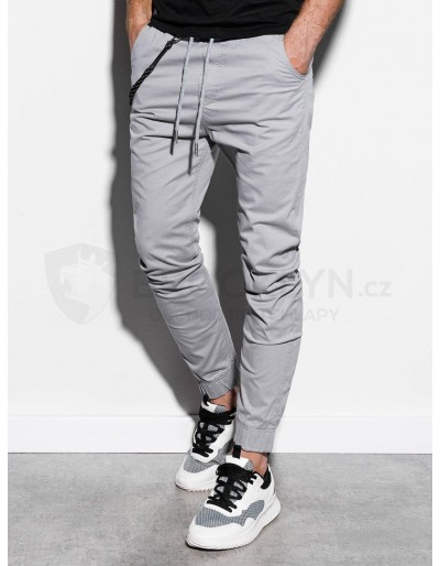 Men's pants joggers P908 - light grey