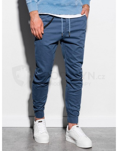 Men's pants joggers P908 - blue