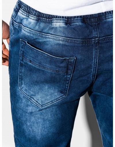 Men's jeans joggers P907 - blue
