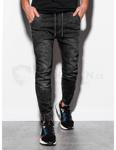 Men's jeans joggers P907 - black