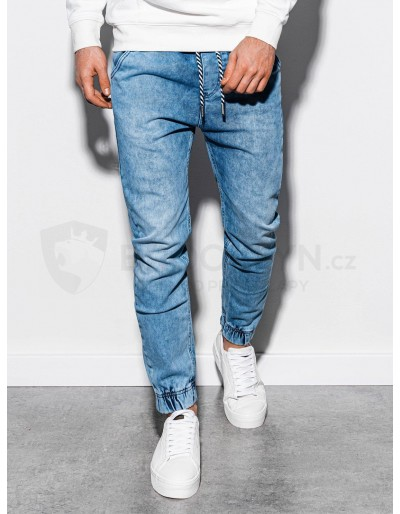 Men's jeans joggers P907 - light blue