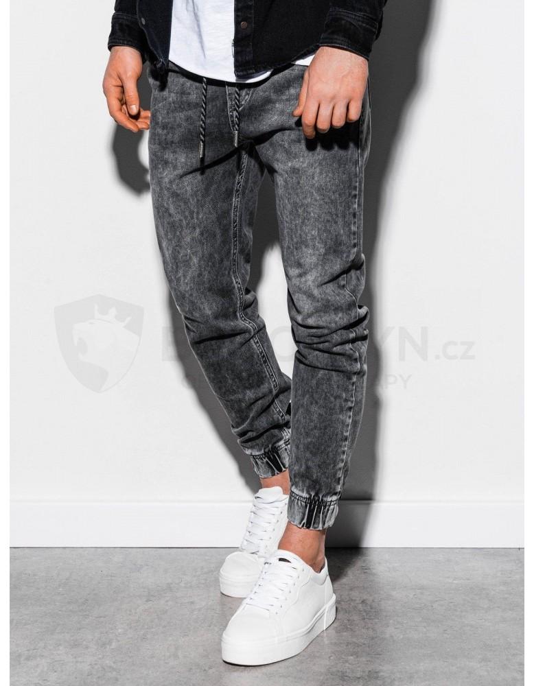 Pánské riflové kalhoty P907 - šedé