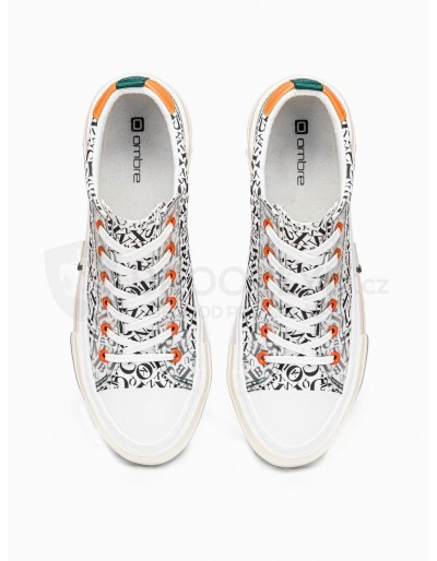 Men's high-top trainers T334 - white