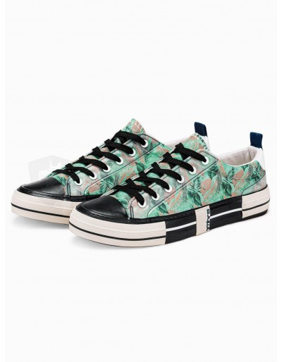 Men's high-top trainers T335 - green