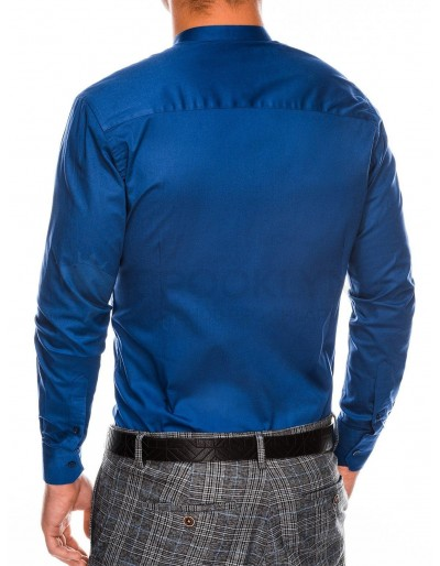 Men's elegant shirt with long sleeves K307 - light navy