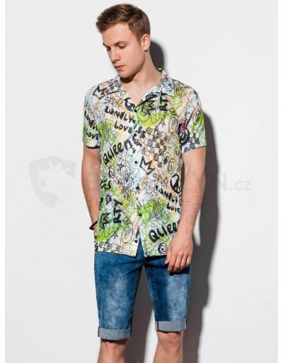 Men's shirt with short sleeves K546 - green