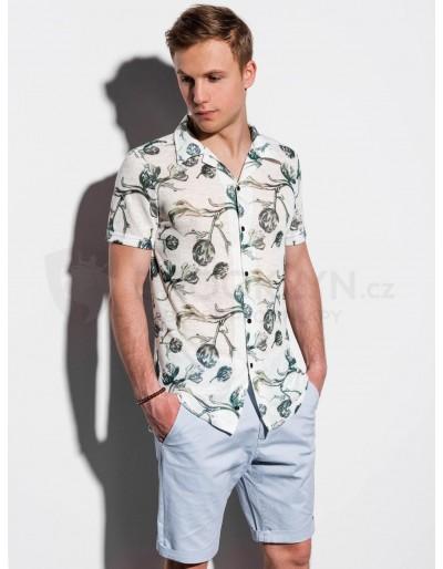 Pánská košile s krátkým rukávem K547 - modrá