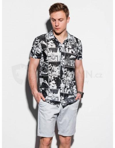 Pánská košile s krátkým rukávem K549 - černá