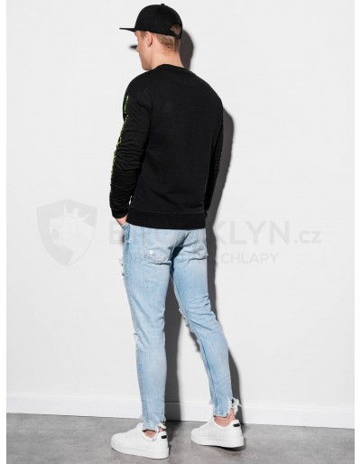 Men's printed sweatshirt B1046 - black
