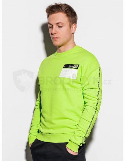 Men's printed sweatshirt B1046 - green