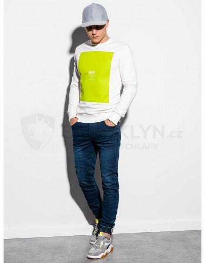 Men's printed sweatshirt B1045 - white