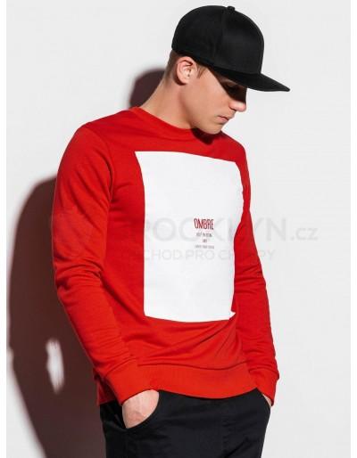Men's printed sweatshirt B1045 - red