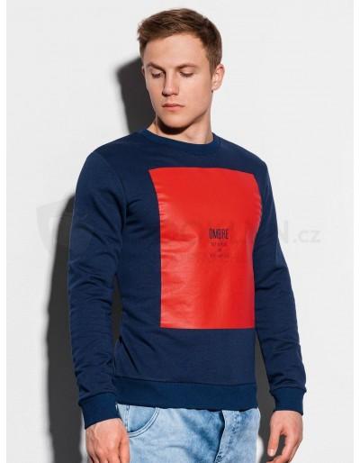 Men's printed sweatshirt B1045 - navy