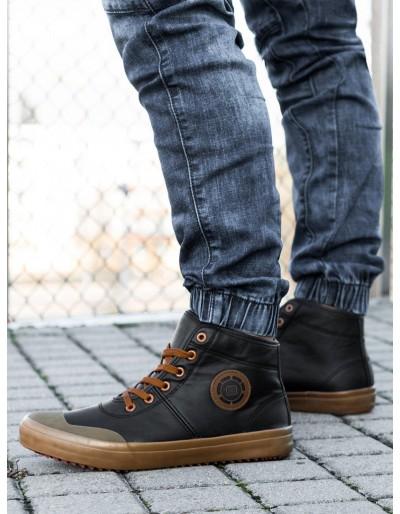 Pánská kotníková obuv T329 - černá