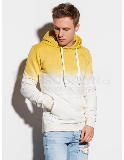 Men's hooded sweatshirt B1048 - yellow