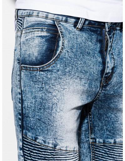 Men's denim shorts W056 - blue
