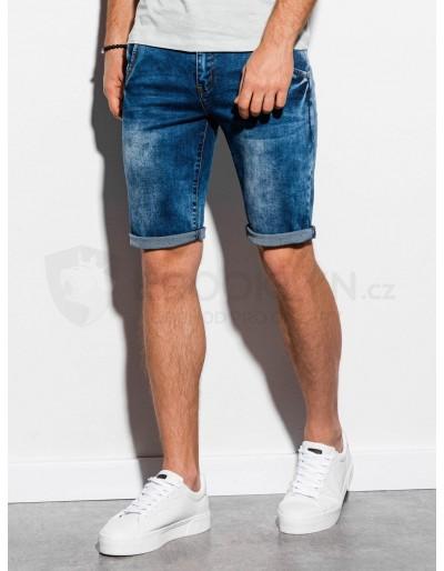 Men's denim shorts W057 - blue
