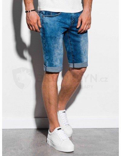 Men's denim shorts W058 - blue