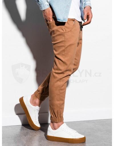 Men's pants joggers P885 - beige