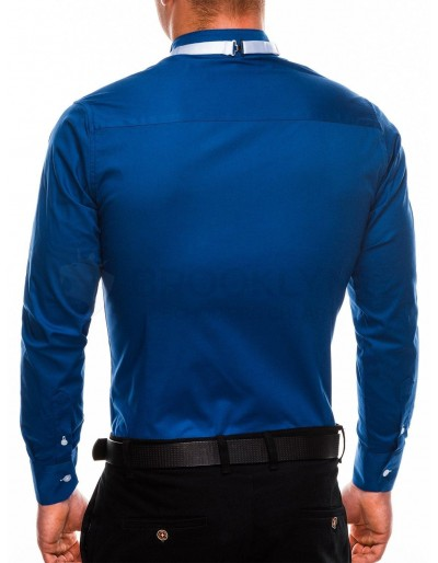 Men's elegant shirt with long sleeves K309 - navy