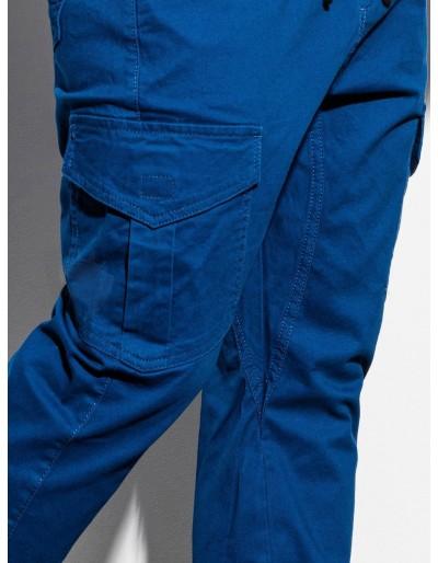 Men's pants joggers P886 - blue