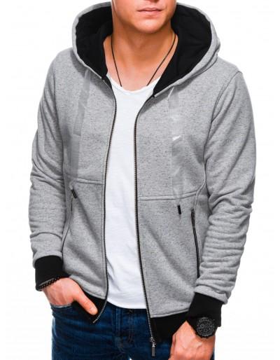 Men's zip-up hoodie B1218 - grey
