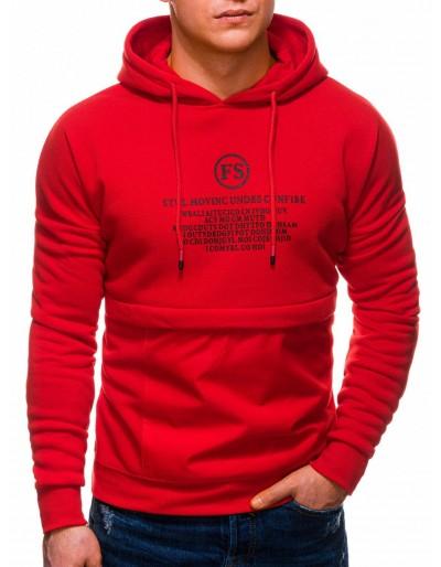 Pánská mikina B1244 - červená