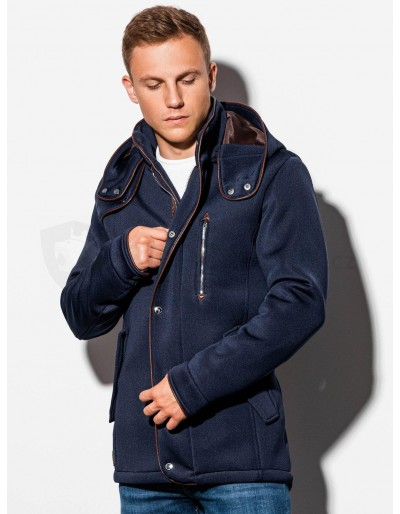 Pánský kabát s kapucí C200 - námořnická