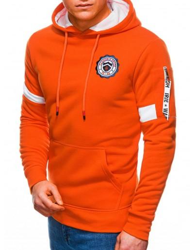Pánská mikina s kapucí B1241 - oranžová