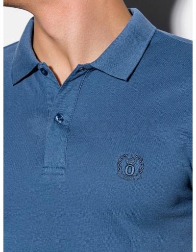 Men's plain polo shirt S1048 - dark blue