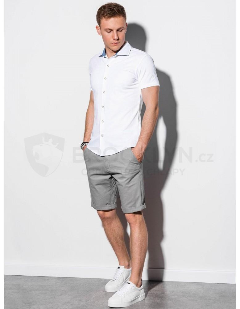 Pánská košile s krátkým rukávem K541 - bílá