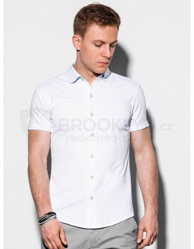 Men's shirt with short sleeves K541 - white