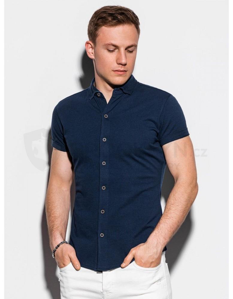Pánská košile s krátkým rukávem K541 - námořnická