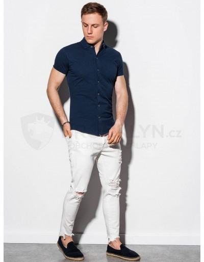 Men's shirt with short sleeves K541 - navy