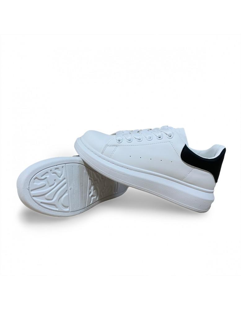 Pánské sportovní koženkové tenisky  - bílé