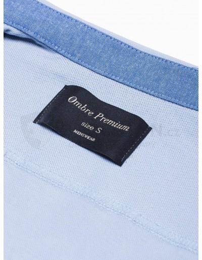 Men's shirt with short sleeves K541 - blue
