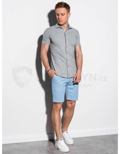 Men's shirt with short sleeves K541 - grey