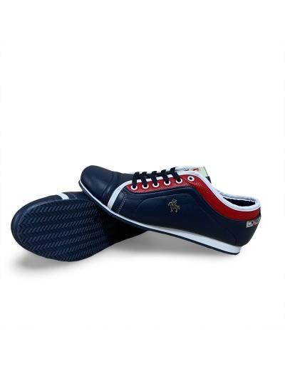 Pánské koženková volnočasová obuv - modré
