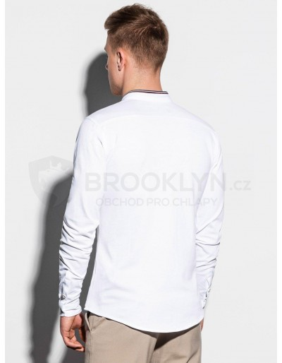 Men's shirt with long sleeves K542 - white