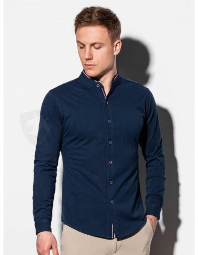 Pánská košile s dlouhým rukávem K542 - námořnická