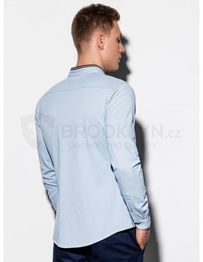 Men's shirt with long sleeves K542 - blue